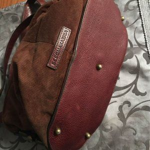 BCBGMaxAzria Corduroy & leather bag